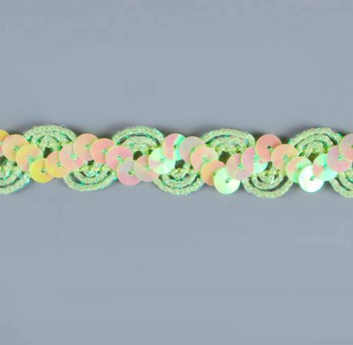 E6119  Lime Ric Rac Sequin Sewing Craft Trim 5/8\