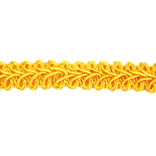 E1901-YLG- Yellow Gold Gimp Sewing Upholstery Trim 1/2
