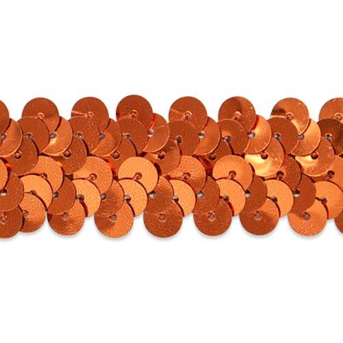 E4412  Orange Sequin Trim Stretch Sewing 1\