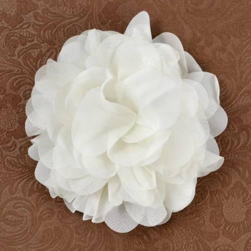E6042 Ivory Floral Brooch Clip Applique 5