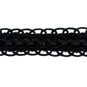 """E6696 Black Gimp Sewing Upholstery Trim 3/4"""""""