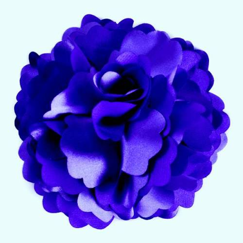 E6049 Purple Silky Floral Brooch Hair Clip Applique 3.75\