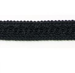 E1903 Black Woven Braid Gimp Sewing Upholstery Trim 3/4\