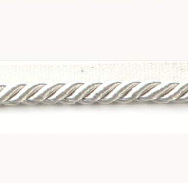 E2538  Twisted Shimmering Ivory Lip Cord Trim 1/4\