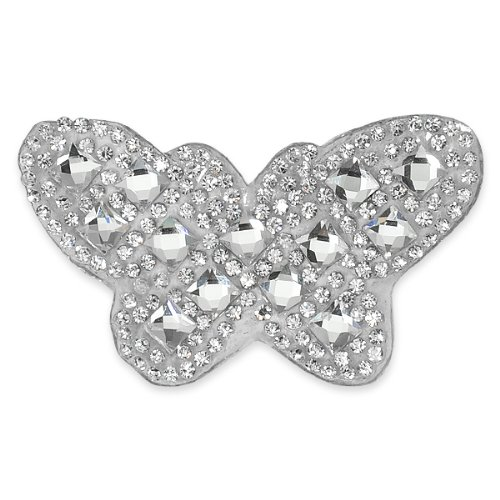E1326 Crystal Rhinestone Butterfly Applique Clothing or Cake Decor 2.75\