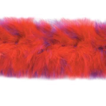 D6267 Red Hat Marabou Fur Feather Trim 36\ Package Pre-cut