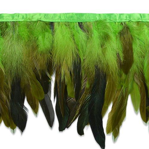 E6983 Green Fionna Feather Fringe Trim 6\