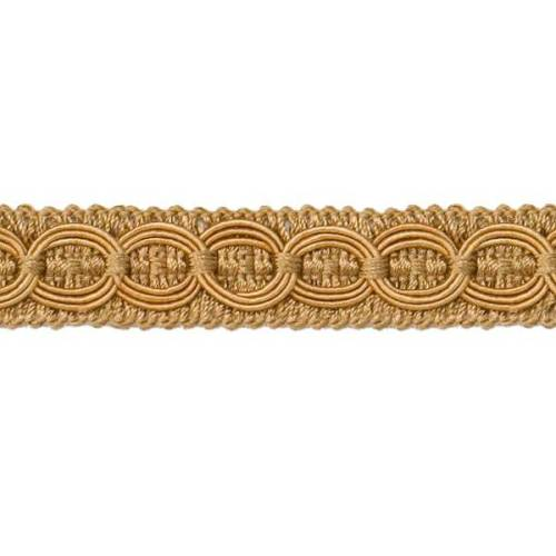 E4437 Woven Braid Circle Gold Gimp Sewing Upholstery Trim 3/4\