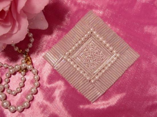 REDUCED RMK8629  Crystal AB Diamond Square 3.25 Beaded Applique