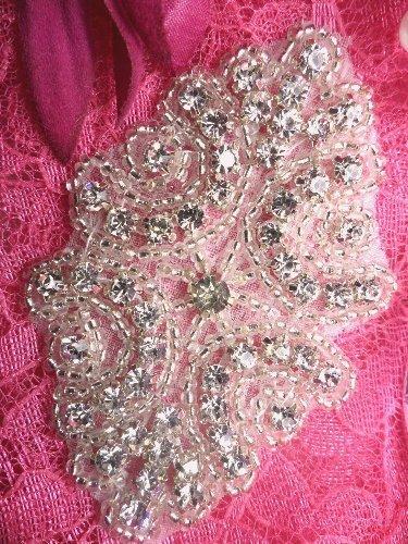 ACT/XR131 Baby Cinderella Crystal Rhinestone Beaded Applique 2-7/8