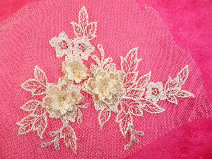 Purple venise lace applique pairs u pretty cute fabric lace