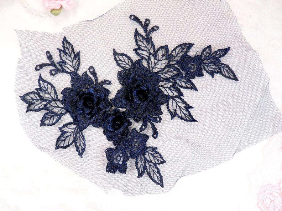 White venise lace applique pretty cute fabric lace