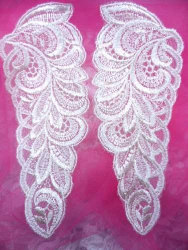 BL47 Ivory Floral Venise Lace Mirror Pair  Appliques 7