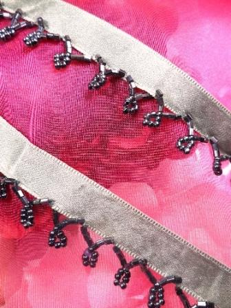 C26228 Gunmetal Beaded Fringe Sewing Trim