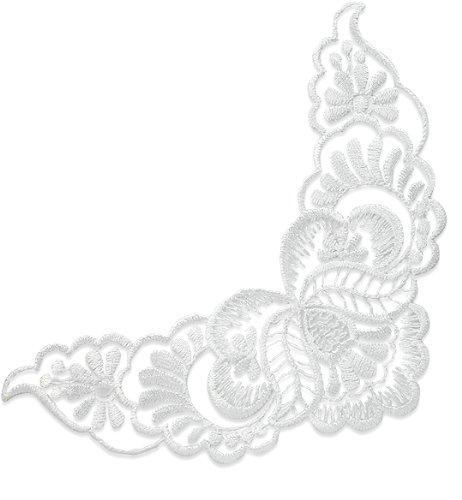 E2725 White Lace Collar Venise Lace Applique 8\
