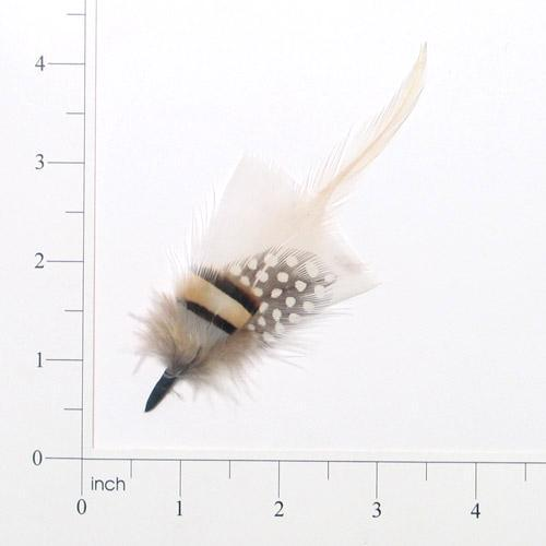 E4102   Brown & White Spotted Feather 3.5