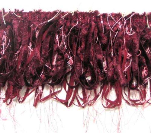 E5668c Fringe Trim Loop Fiber Sewing Crafts Trimming Burgundy Pink 4\