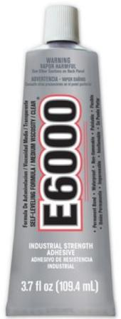 E6000 Glue Lg Tube Clear Medium Viscosity Industrial Strength Adhesive 3.7 oz.