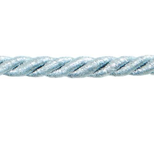 E6702 Twisted Cord Metallic Silver Lip Cord Trim 1/4\