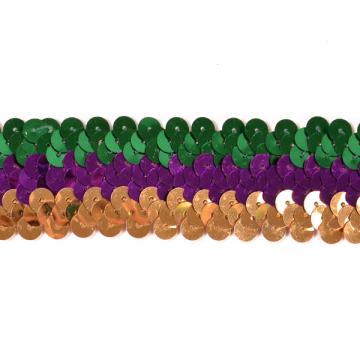E6809 Mardi Gras Sequin Stretch Sewing Trim 1.25\