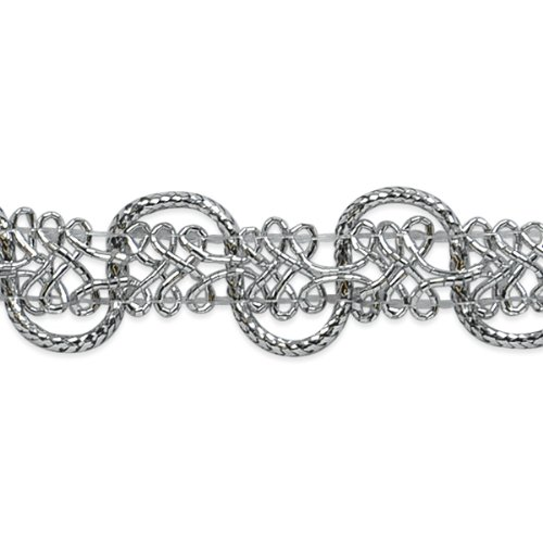 E6971 Silver Metallic Braid Sewing Craft Trim 5/8\