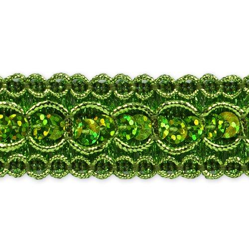 E6973  Lime  Sequin  Metallic  Braid Trim 7/8