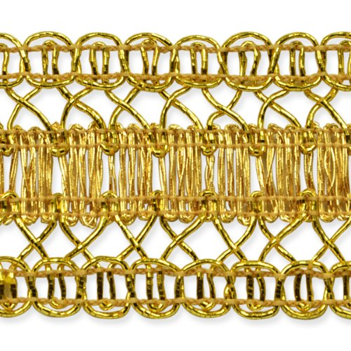 E7025 Gold Metallic Braid Sewing Craft Trim 1 1/2\