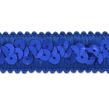 E7039  Royal Blue Trim Sequin Stretch  7/8\