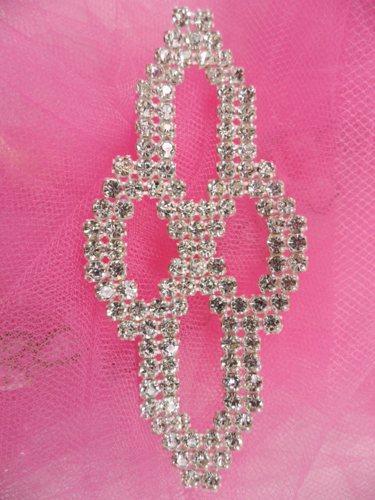 FS14076 Silver Crystal Clear Applique Embellishment 4