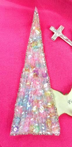FS473 Pastel Triangle Beaded Sequin Applique 5\