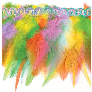 E4022  Multicolor Feather Sewing Trim 3