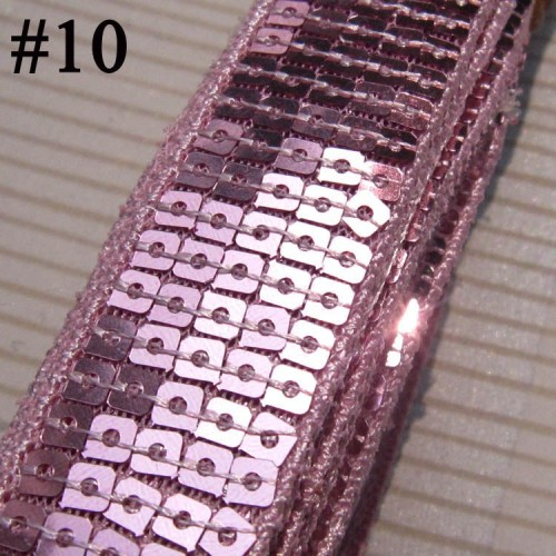 GB128 Pink Sequin Sewing Craft Trim 5 Row 1\