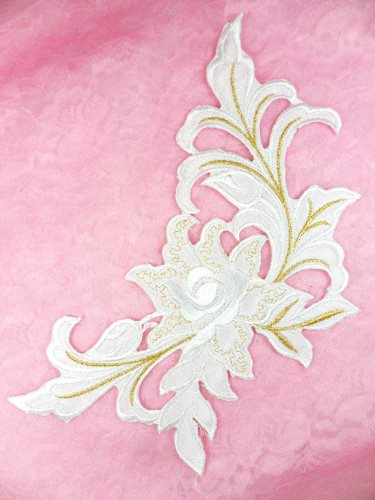 Embroidered Floral Bouquet Iron On Motif