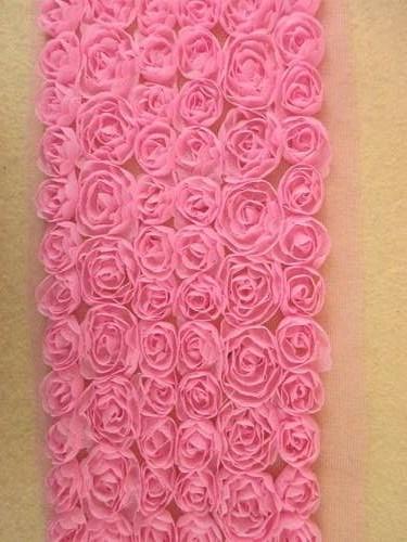 GB338 Dark Pink Lace Wedding Bridal Floral Sewing Trim 3.5\
