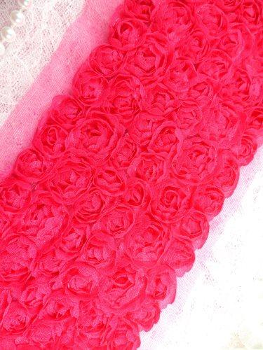 GB338 Wedding Bridal Floral Fuchsia Sewing Trim 3.5\