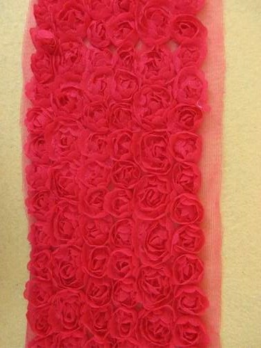 GB338 Red Lace Wedding Bridal Floral Sewing Trim 3.5\