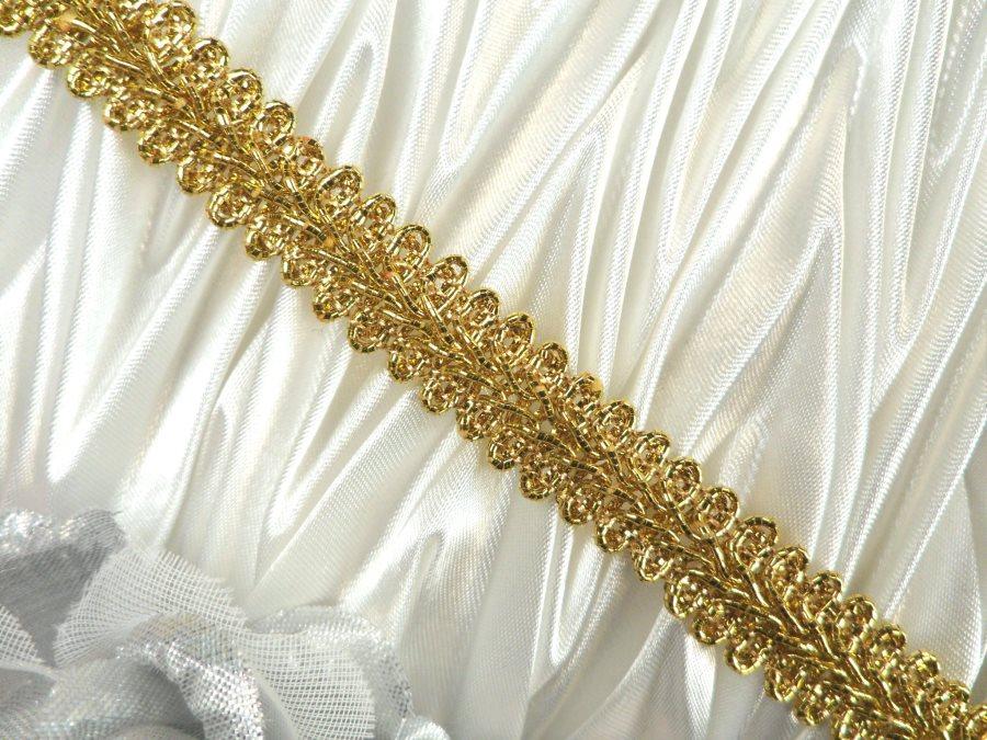 REMNANT Gold Metallic Cord Sewing Trim 25 (RMGB523)