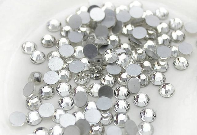 1404 Pieces High Quality Flat Back Rhinestones Mixed Sizes Glue on Non Hotfix DIY Crafts Clothing Nails (GB530)