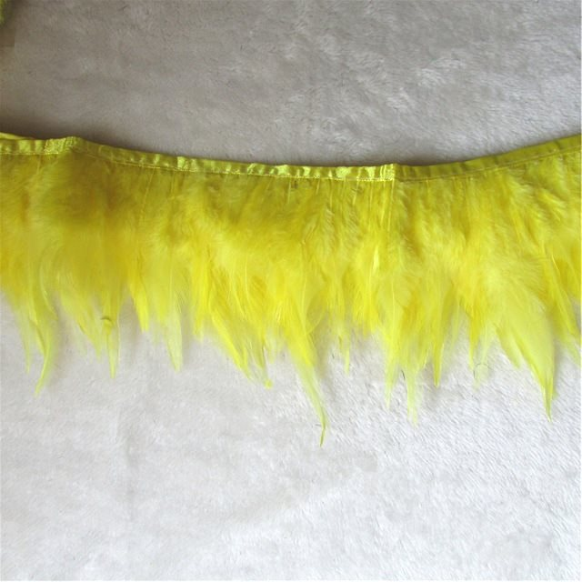 Yellow Feather Fringe Trim 4.5 (GB537)