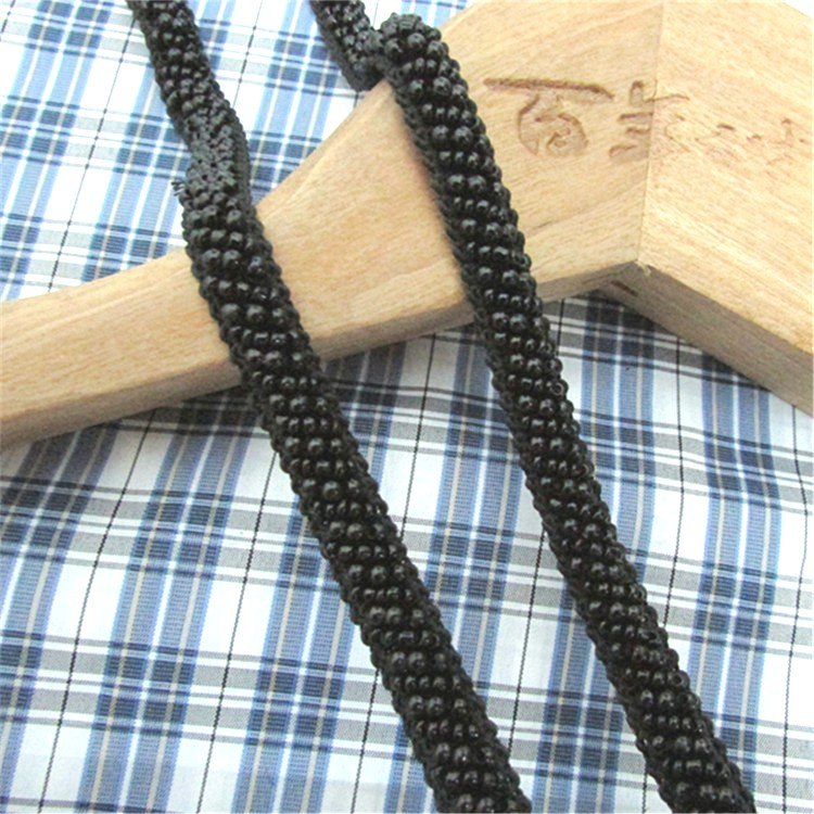 Black Beaded Sewing and Craft Trim w/ Fabric Backing 3/8 (GB664)