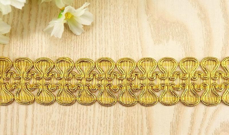 GB806 Gold Metallic Sewing Craft Trim 1 1/2