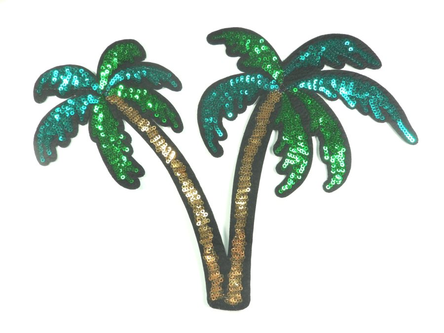 Palm Trees Sequin Applique Clothing Crafts Patch 11 GB829