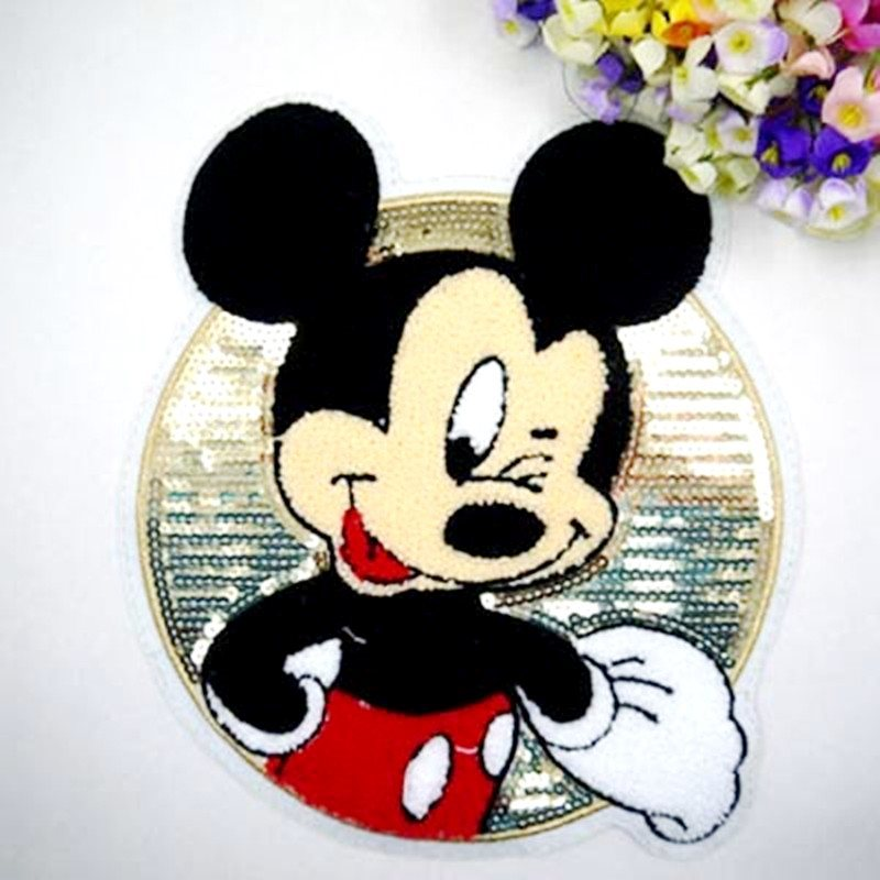 Mickey Mouse Sequin 3d Loop Applique  9 GB838