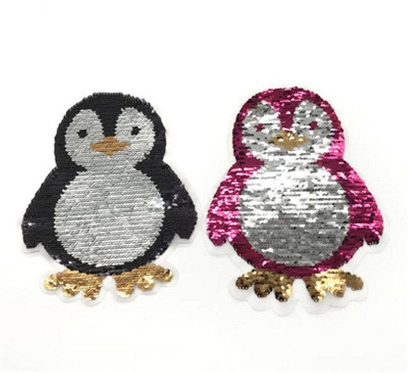 Penguin Applique Color Changing Sequins Patch   8.5 GB851