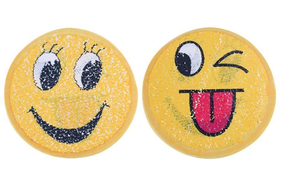 Smiling Emoji Applique Changing Sequins Patch 7 GB854