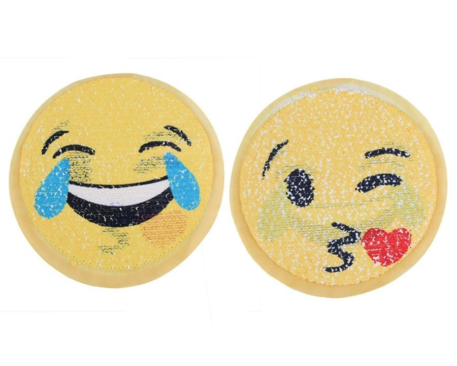 LOL Laughing Emoji Applique Changing Sequin Patch 7 GB856