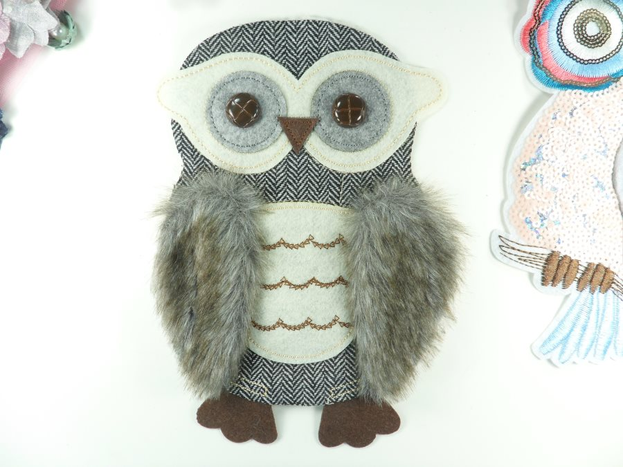 Owl Applique Multi-Color Patch for Clothing or Crafts 10 GB936