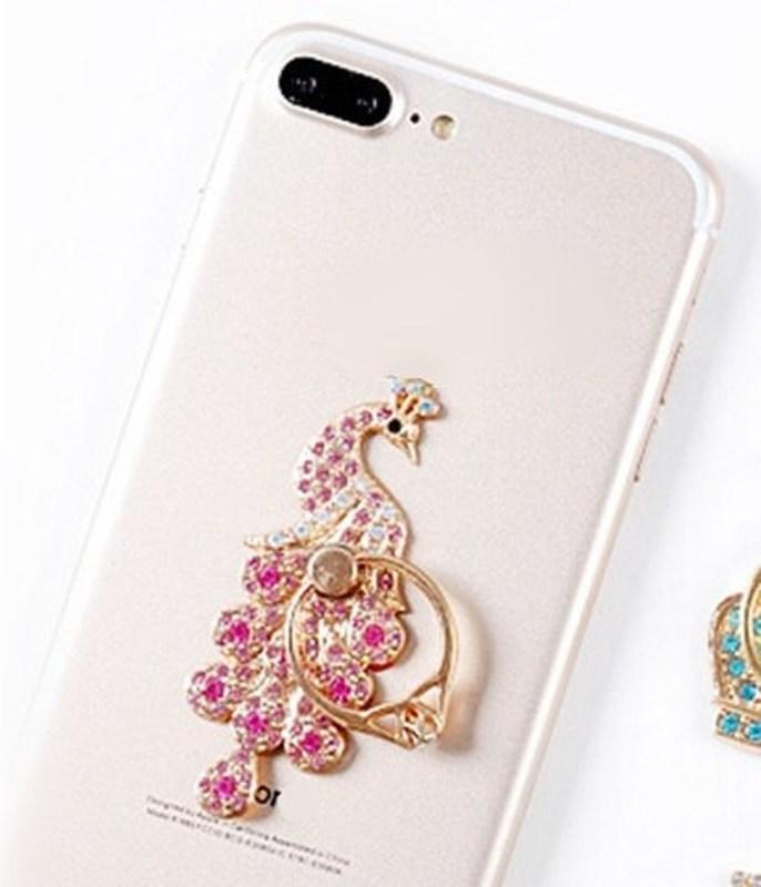 Peacock Iphone Mobile Phone Metal Ring Holder GB514C
