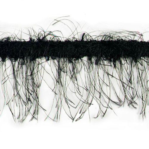 E1785  Black  Eyelash Gimp Fringe Trim