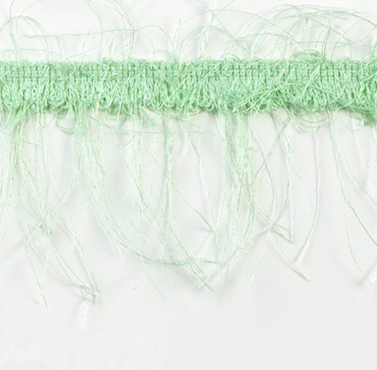 E1785  Mint Green Eyelash Gimp Fringe Trim